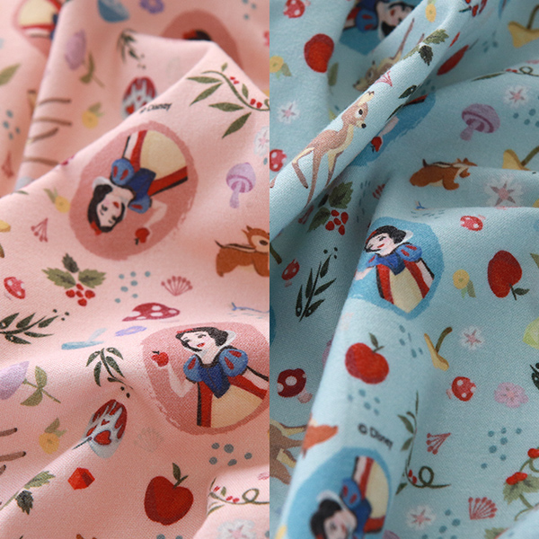 """Brushed Cotton-Disney-Snow White Forest Friends, 2colors(42"""")"""