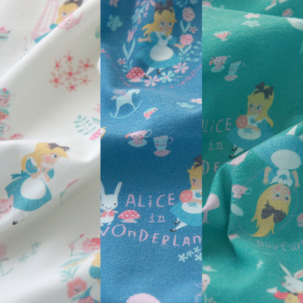 """Brushed Cotton-Disney-Baby Alice, 3colors(42"""")"""
