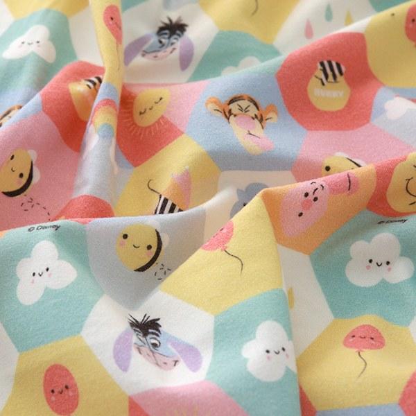 """Brushed Cotton-Disney-Pooh pastel Hexagon(42"""")"""