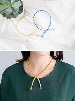 [7Y-AC019] Cotton Woven Necklace