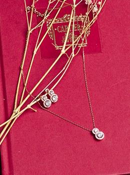 [8Y-AC002] Gold Cubic Necklace SET