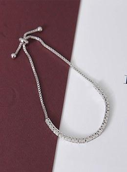 [YY-AC036] Silver Bead Chain Bracelet