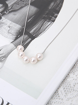 [YY-AC061] Small Pearl Long Necklace