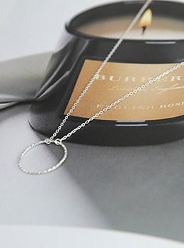 [YY-AC064] O ring silver choker necklace