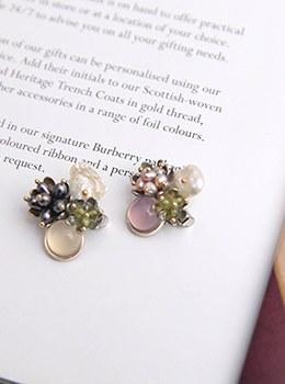 [YY-BR032] Stone flower brooch