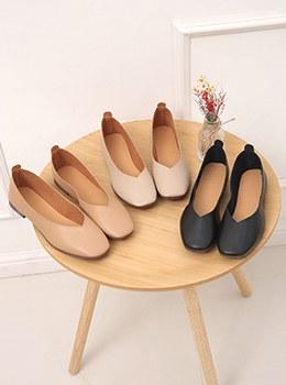[YY-SH169] Simple Square Flat Shoes