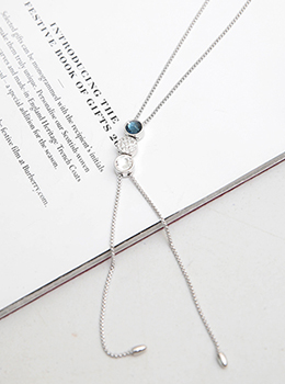 [YY-AC095] Thrive Cubic Silver Necklace
