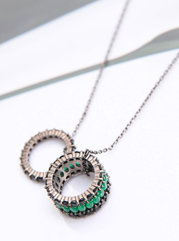 [YY-AC101] Ring Cubic Long Necklace