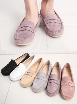 [YY-SH206] Chamois Loafers