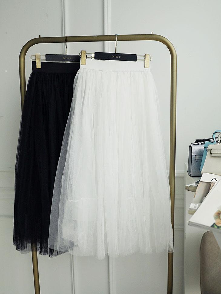 SK-484 volume See-through mesh skirt(106th REORDER)
