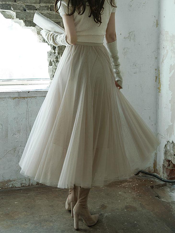 SK1807 줄로아 Net Long skirt(119th REORDER)