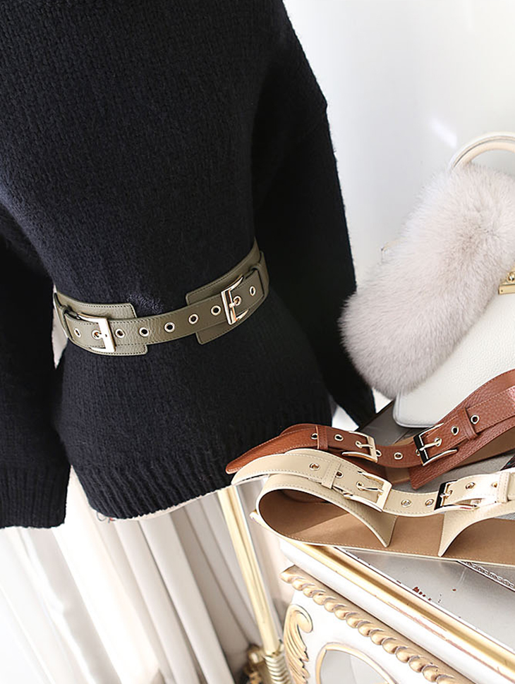 AT-269 Gold Buckle Point Belt (18th REORDER)