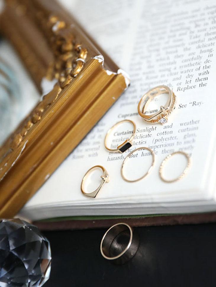 AJ-3908 ring (7Pieceset)