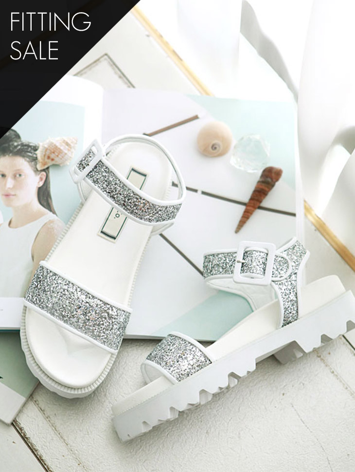 PS1426 Glitter Casual Clippers Shoes * HAND MADE ** Fitting Sale *