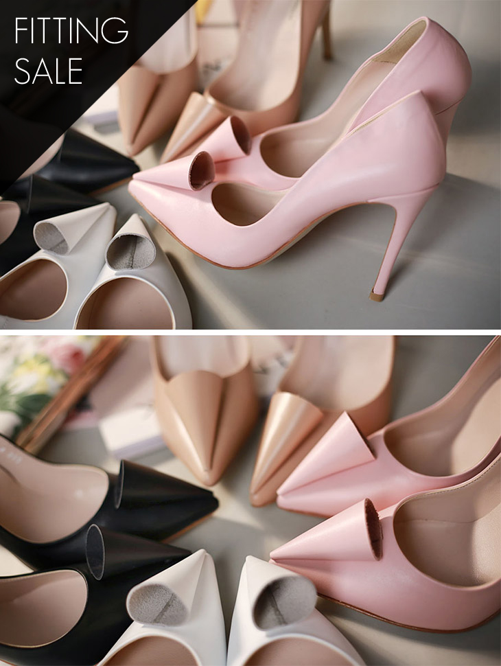 PS1518 Triangle Spring Stiletto Heel * HAND MADE ** Fitting Sale *