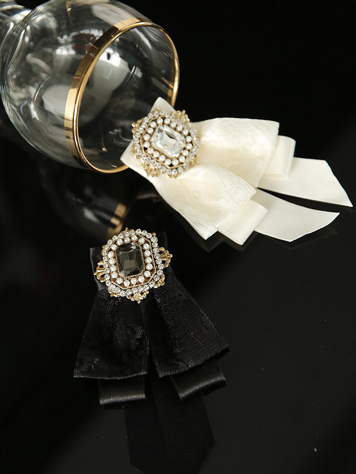 AB-153 Double 블링 ribbon brooch(3rd REORDER)