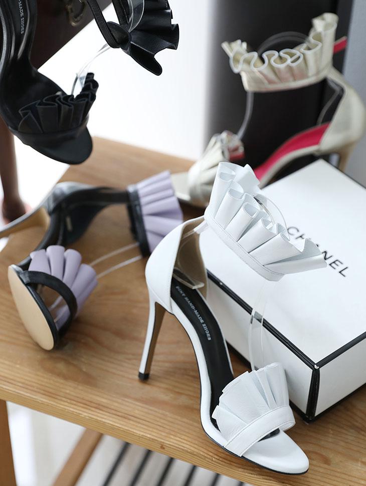 HAR-637 Frill Strap High heels sandals*HAND MADE*