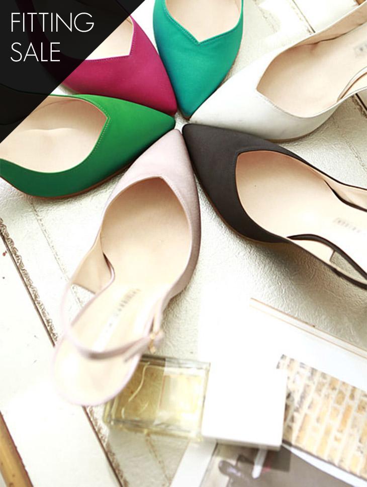 PS1574 Ella Pearl Sling backs heel * HAND MADE ** Fitting sale *