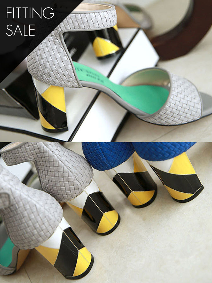 PS1576 Mash Ankle Strap Heel * HAND MADE ** Fitting Sale *