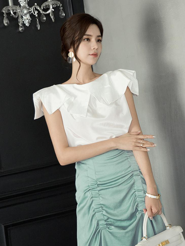 B2458 silky Sleeveless blouse(3rd REORDER)