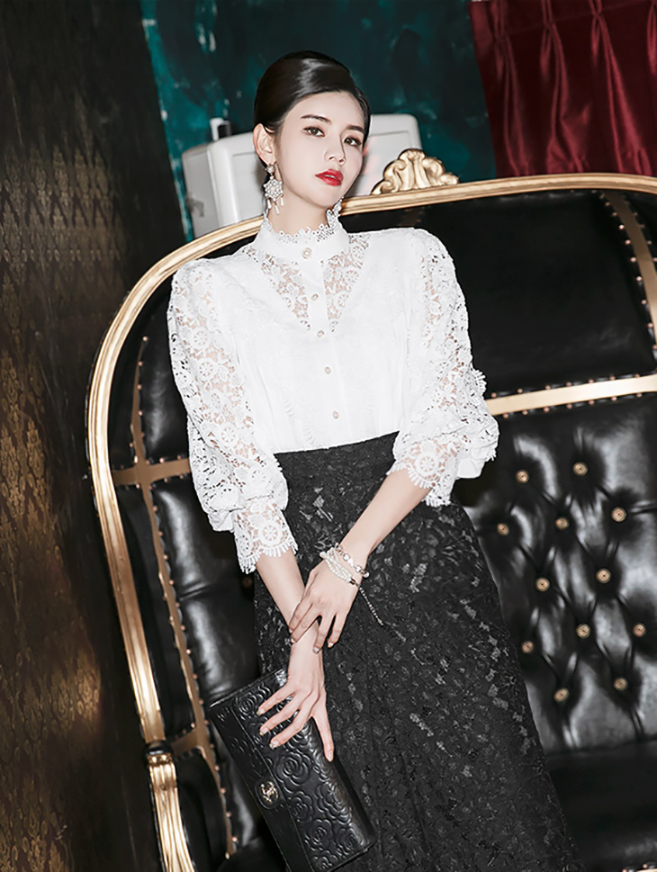 B2546 러버딘 Lace Cotton blouse(135th REORDER)