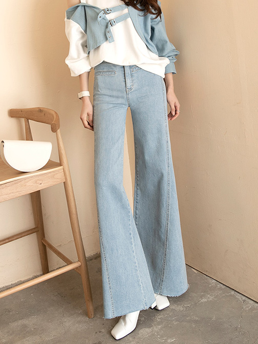 PJ399 스프릿 wide Denim pants*L size production*(48th REORDER)