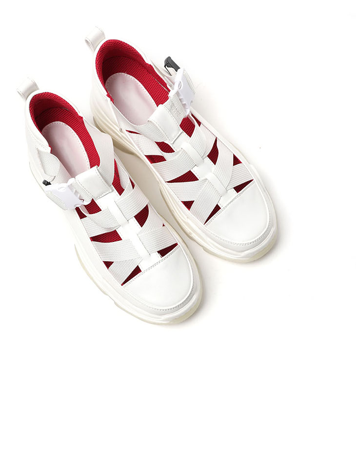 AR-2495 Strap Buckle High Sneakers(22th REORDER)