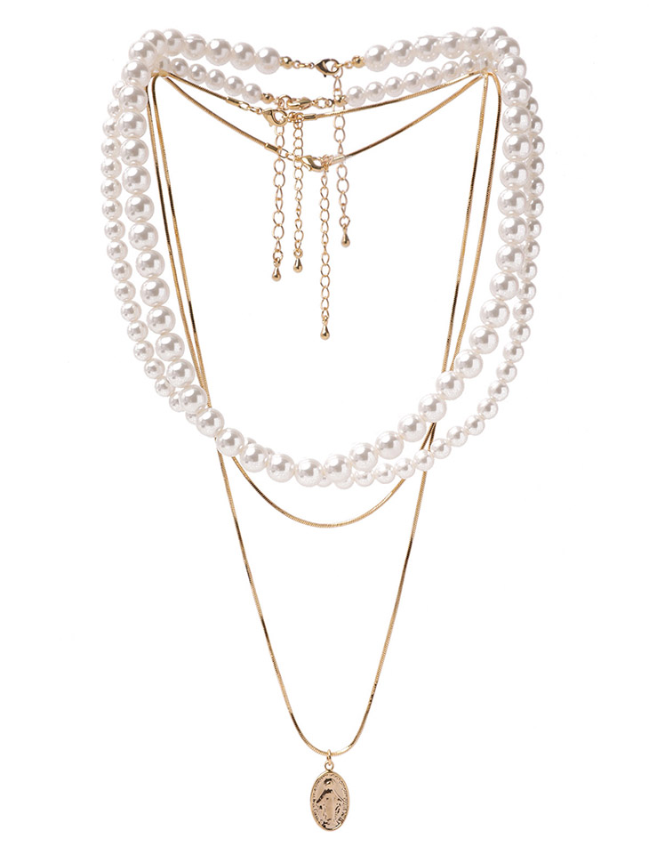 AJ-4699 Necklace(4PieceSET)