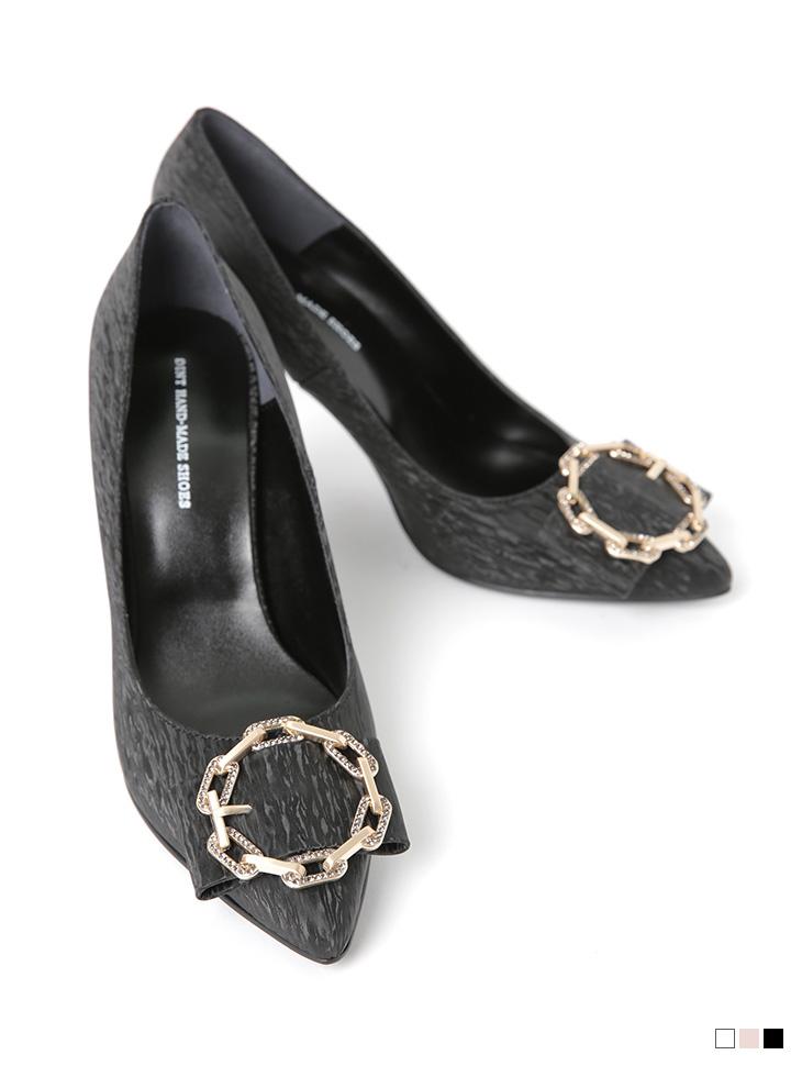 HAR-659 세론 Chain High heels Pumps*HAND MADE*