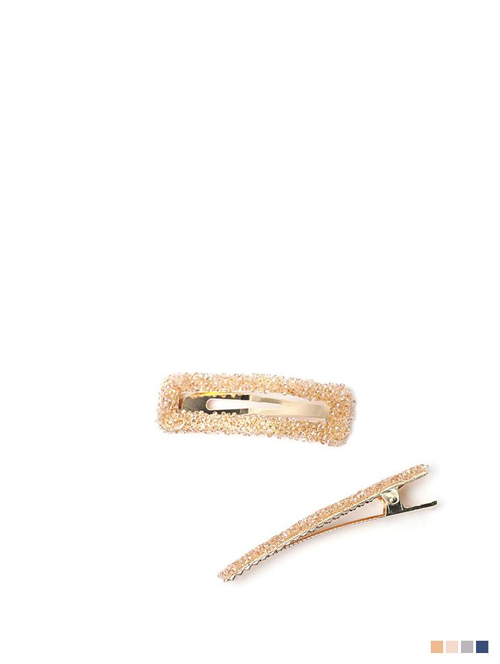 AP-364 Glitter hairpin(2Piece SET)