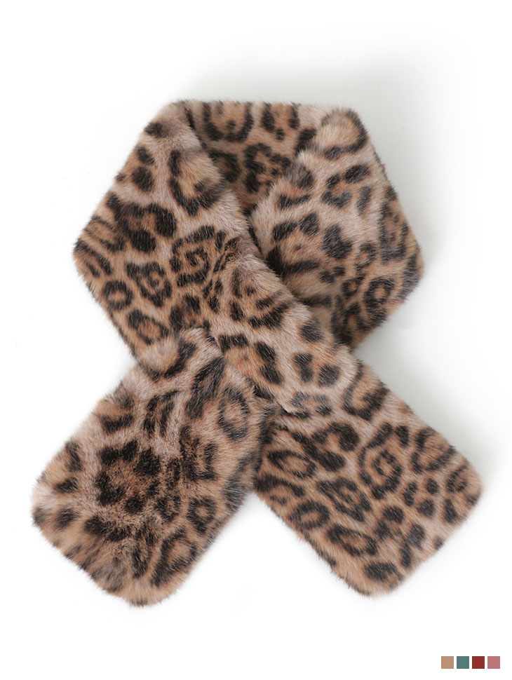 AS-1437 Leopard Fur muffler