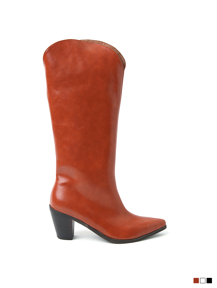 AR-2547 Leather Round Long boots