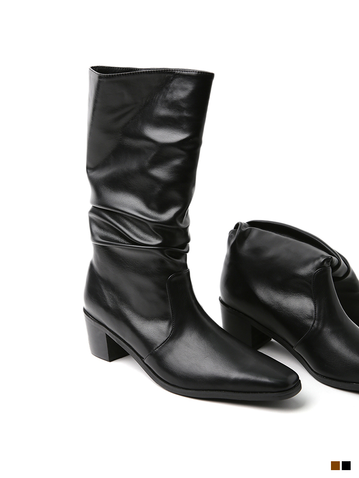 AR-2563 wrinkle Middle boots