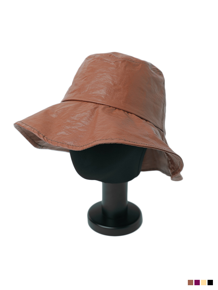 AC-623 Leather stitch bucket hat