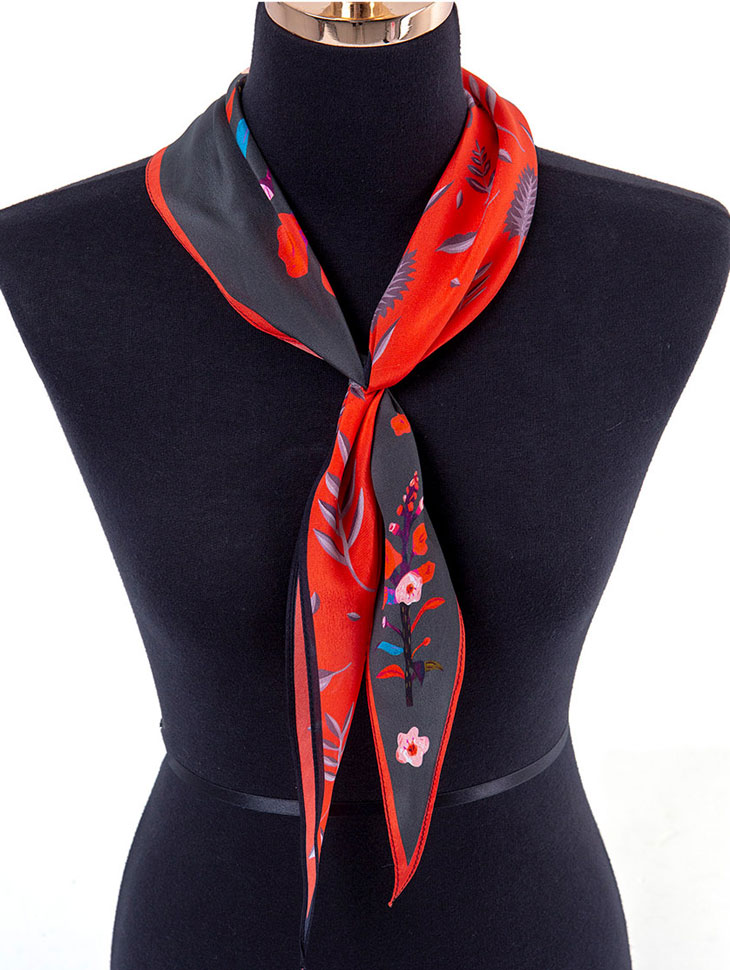 AS-1388 Caisa Flower Arrangement of colors Scarf