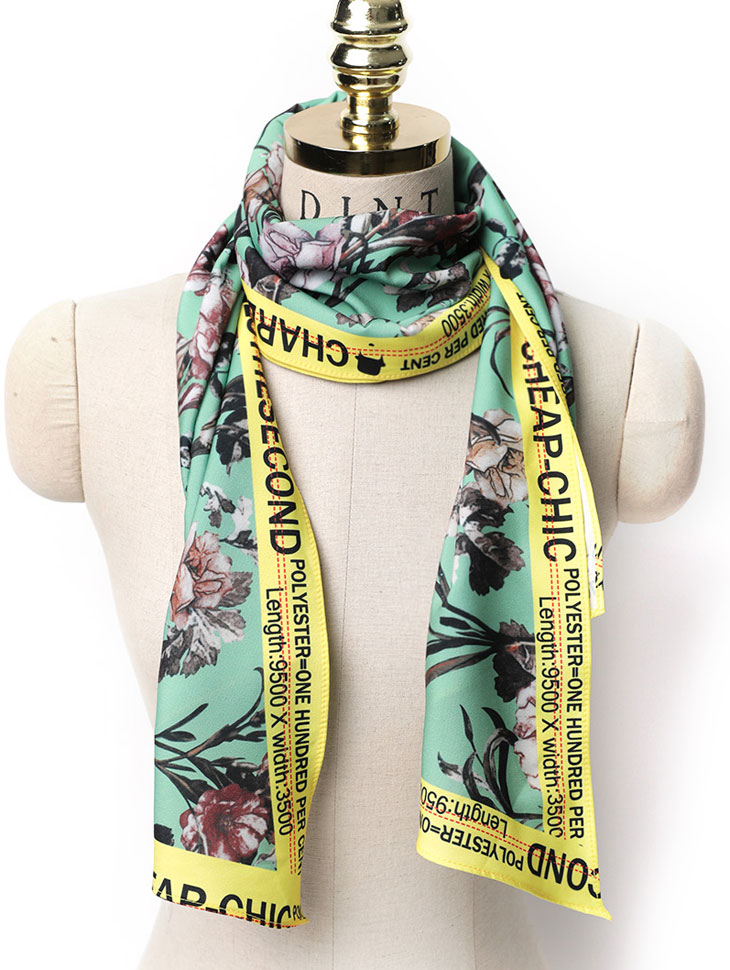 AS-1455 카리엔 Flower Lettering Scarf(6th REORDER)