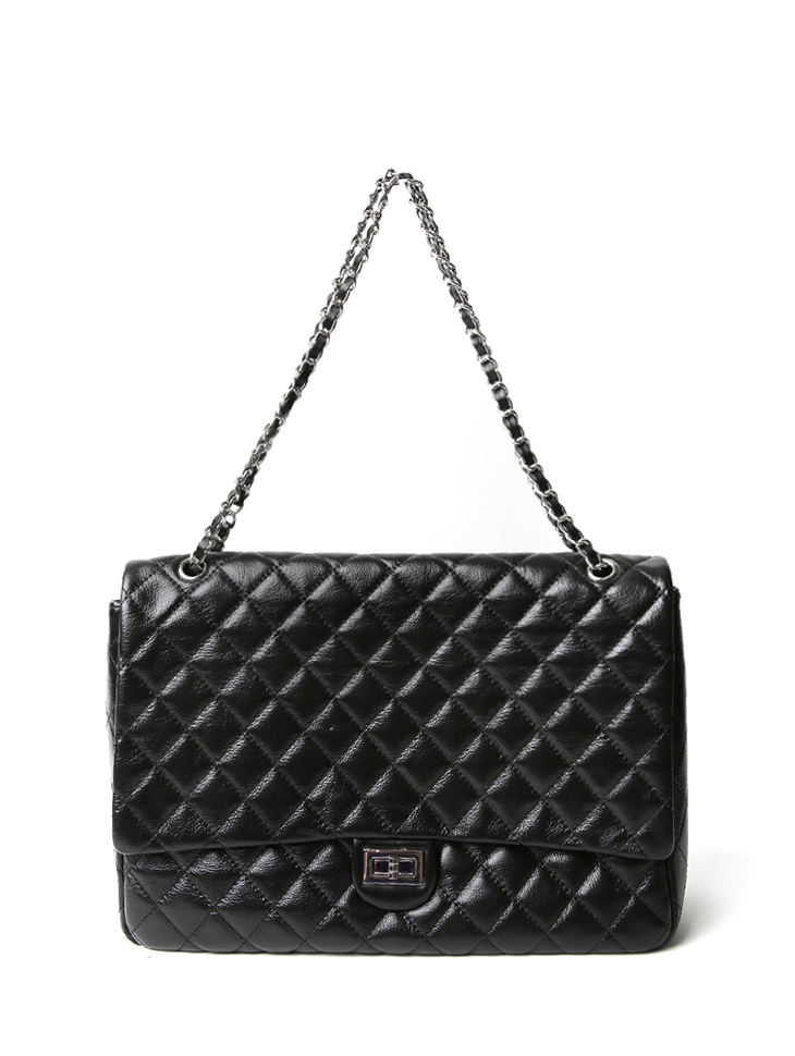 A-1224 quilting Big Chain real leather Shoulder bag