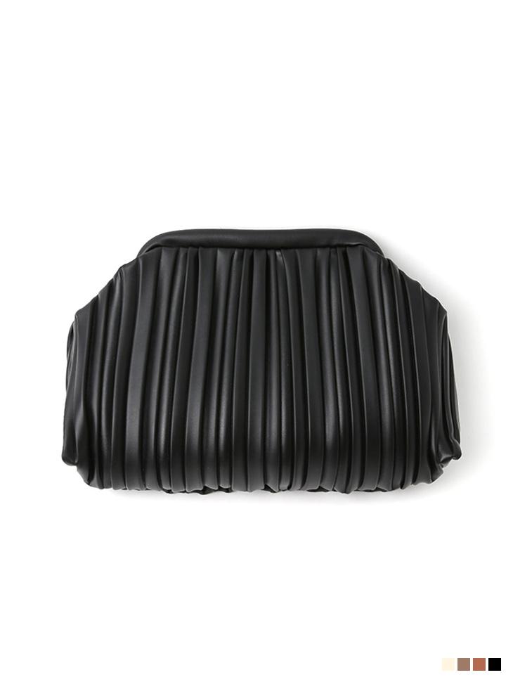 A-1191 카네 wrinkle Leather clutch Back