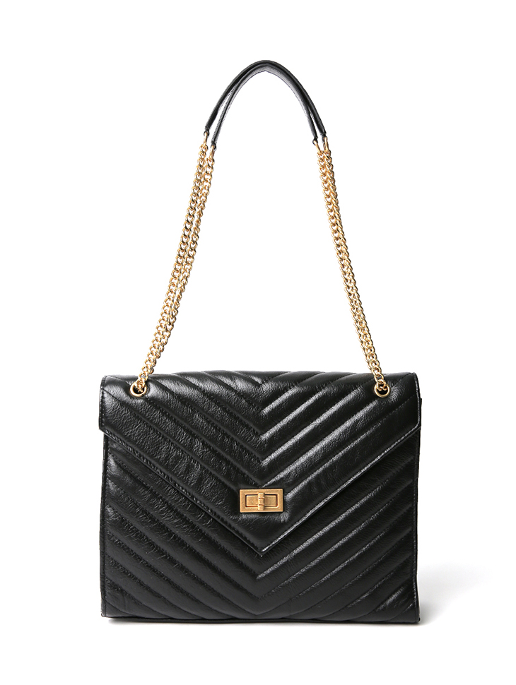 A-1227 Gold Chain real leather Bag