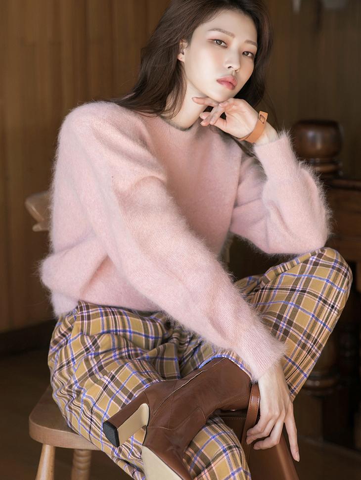 E2309 wool angora knit Top(17th REORDER)