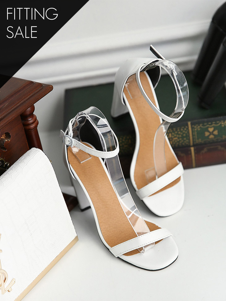PS2003 square Point Strap heels*Fitting sale*