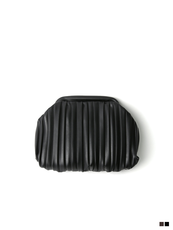 A-1218 텐스 wrinkle Leather clutch Back