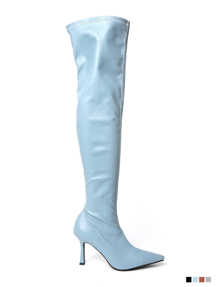 AR-2633 Colorful Stretch over knee High boots