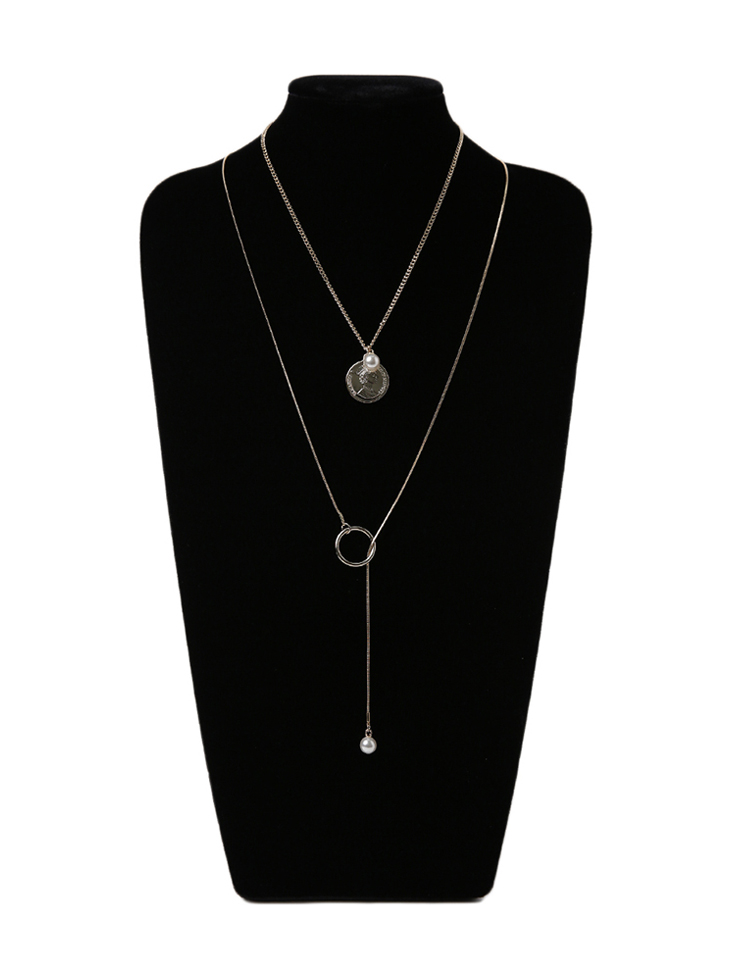 AJ-4930 Necklace(2PieceSET)