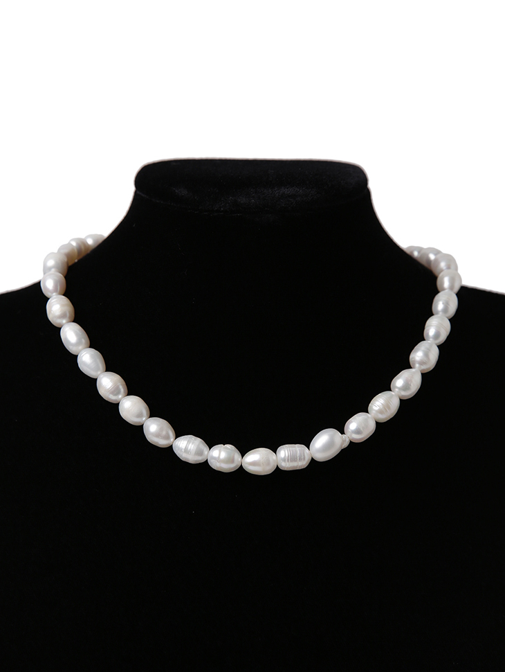 AJ-4942 Necklace*Natural freshwater pearls*