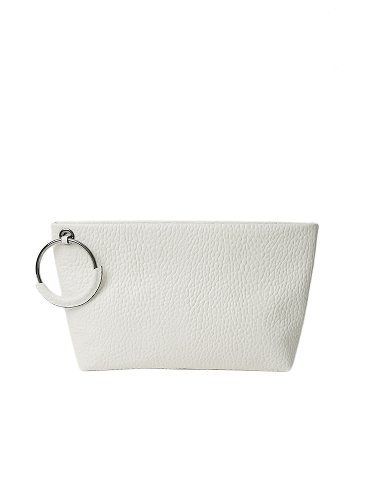 A-1236 real leather ring Point clutch Back