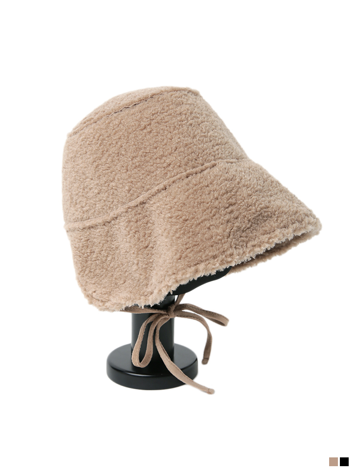 AC-642 Suede boucle bucket hat*Both sides can be worn*