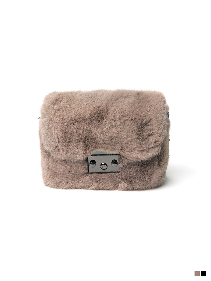 A-1248 fur Mini square Bag