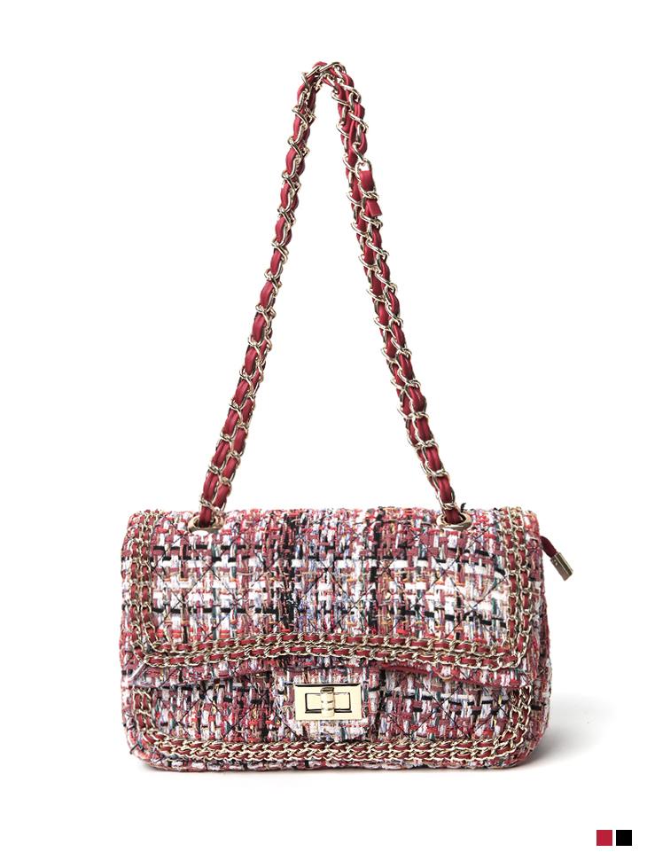 A-1246 Color scheme Tweed Chain Bag