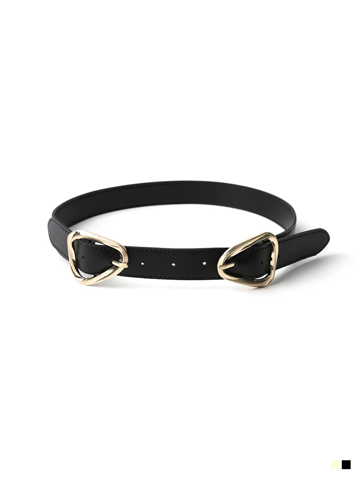AT-389 Gold Two Buckle Belt